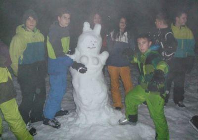 Schneefrau mit Fans